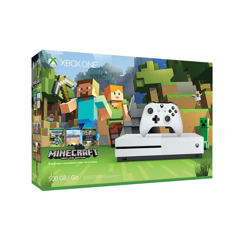 Console Xbox One S 500GB + Minecraft c/ 2 Controles Wireless, 4k