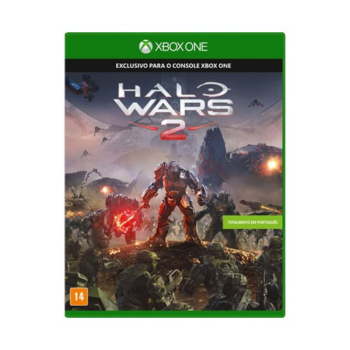 Console Xbox One S edição Halo Wars 2 - 1TB, Compatível 4k, Controle Wireless, Cabo HDMI + Jogo Halo Wars 2 - Branco, Slim