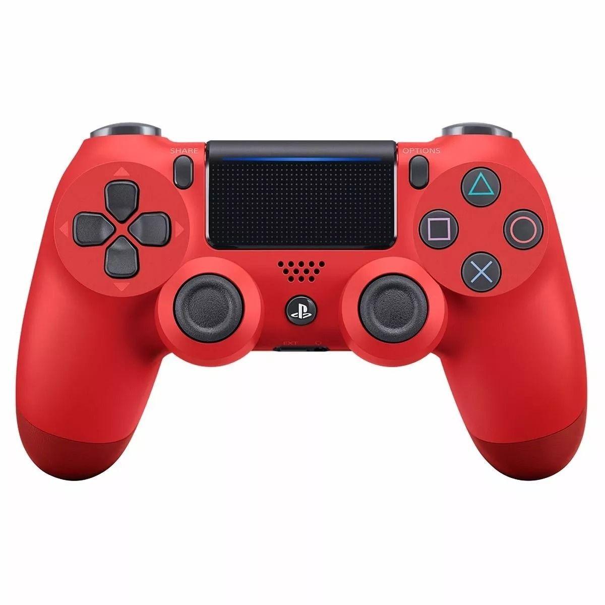 Controle Playstation DualShock 4 Vermelho - PS4 Slim e Pro