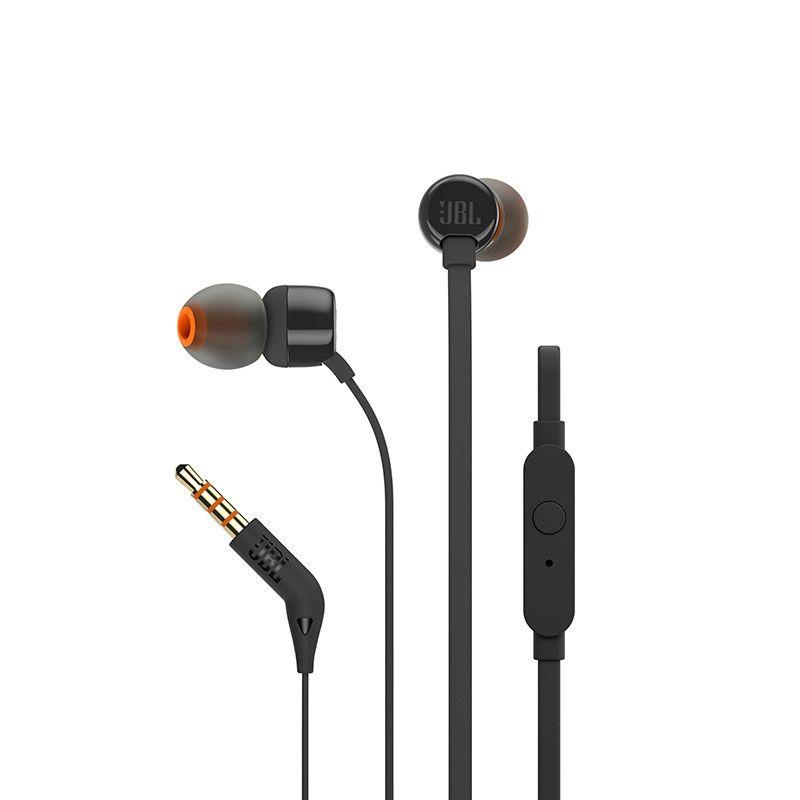 Fone de ouvido Intra-auricular JBL T110 - Técnologia PureBass, Preto