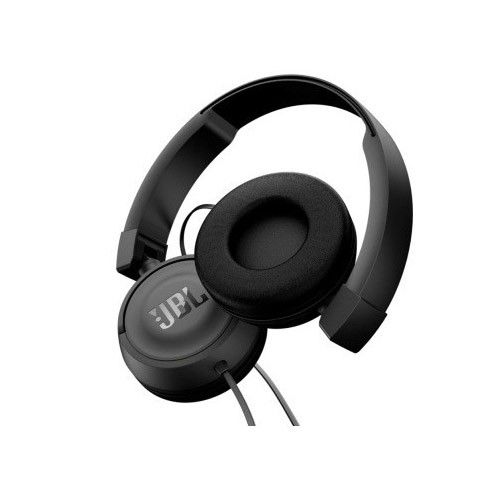 Fone de ouvido JBL T450 - Tecnologia Pure Bass, Dobrável, Microfone Embutido - Preto