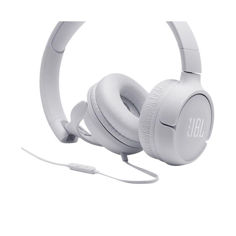 Fone de ouvido JBL Tune 500 branco supra-auricular - T500