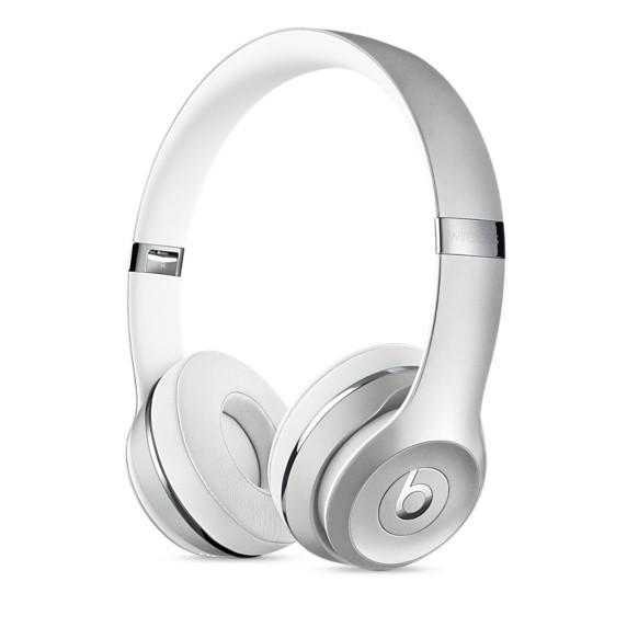 Fone de ouvido Beats Solo3 Wireless - Supra-auricular, Bluetooth, Carregamento rápido com Fast Fuel  - MNEQ2 (Prateado)