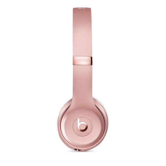 Fone de ouvido Beats Solo3 Wireless - Bluetooth, Carregamento rápido Fast Fuel - MP582 Ouro Rosa