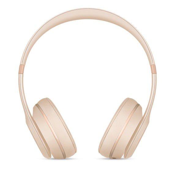 Fone de ouvido Beats Solo3 Wireless - Bluetooth, Carregamento rápido Fast Fuel - MR3Y2 Ouro Fosco