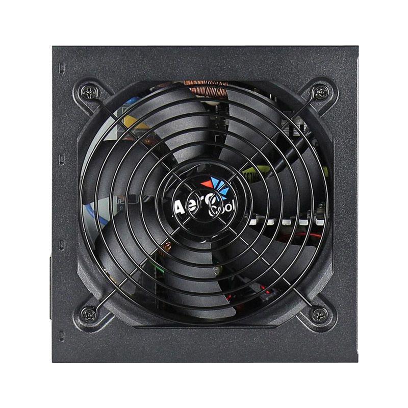 Fonte Aerocool ATX KCAS 600W Real - 80 Plus Bronze, PFC Ativo,  7 conectores SATA