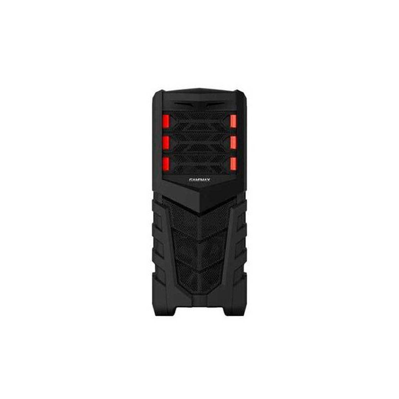 Gabinete GameMax G530B - ATX, Preto com LED Vermelho
