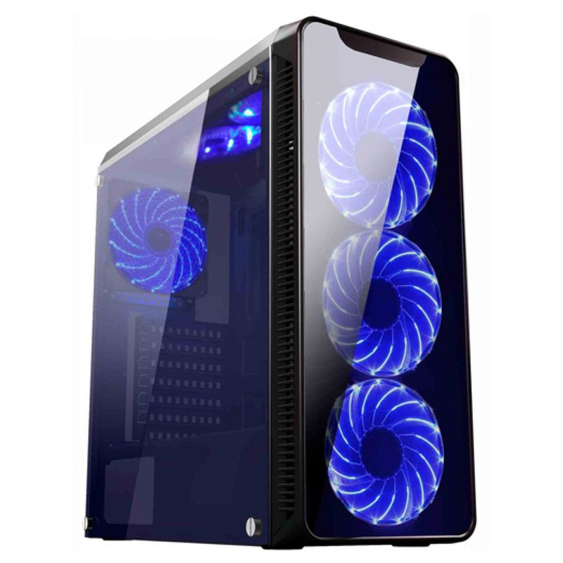 Gabinete Gamer K-Mex Infinity II - Preto com azul