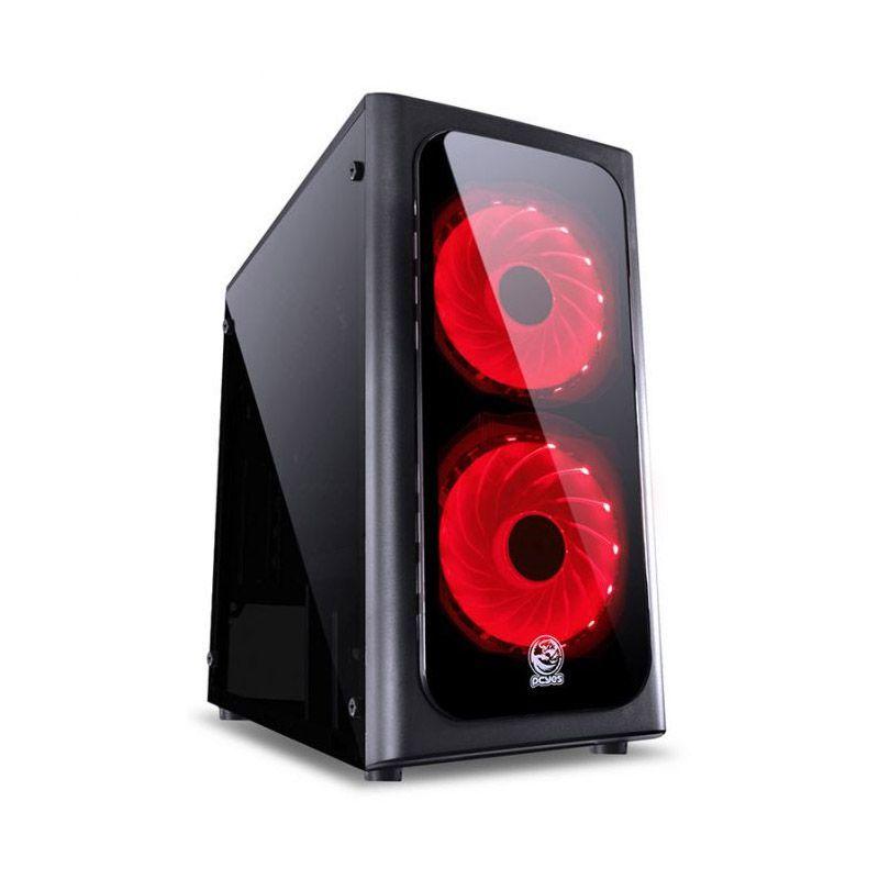 Gabinete Gamer PCYes Venus – USB 3.0, Preto com LED Vermelho