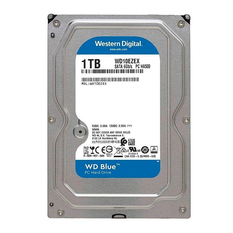 """HD 1TB 3.5"""" Western Digital Caviar Blue - SATA 3, 7200RPM, 64MB - WD10EZEX"""