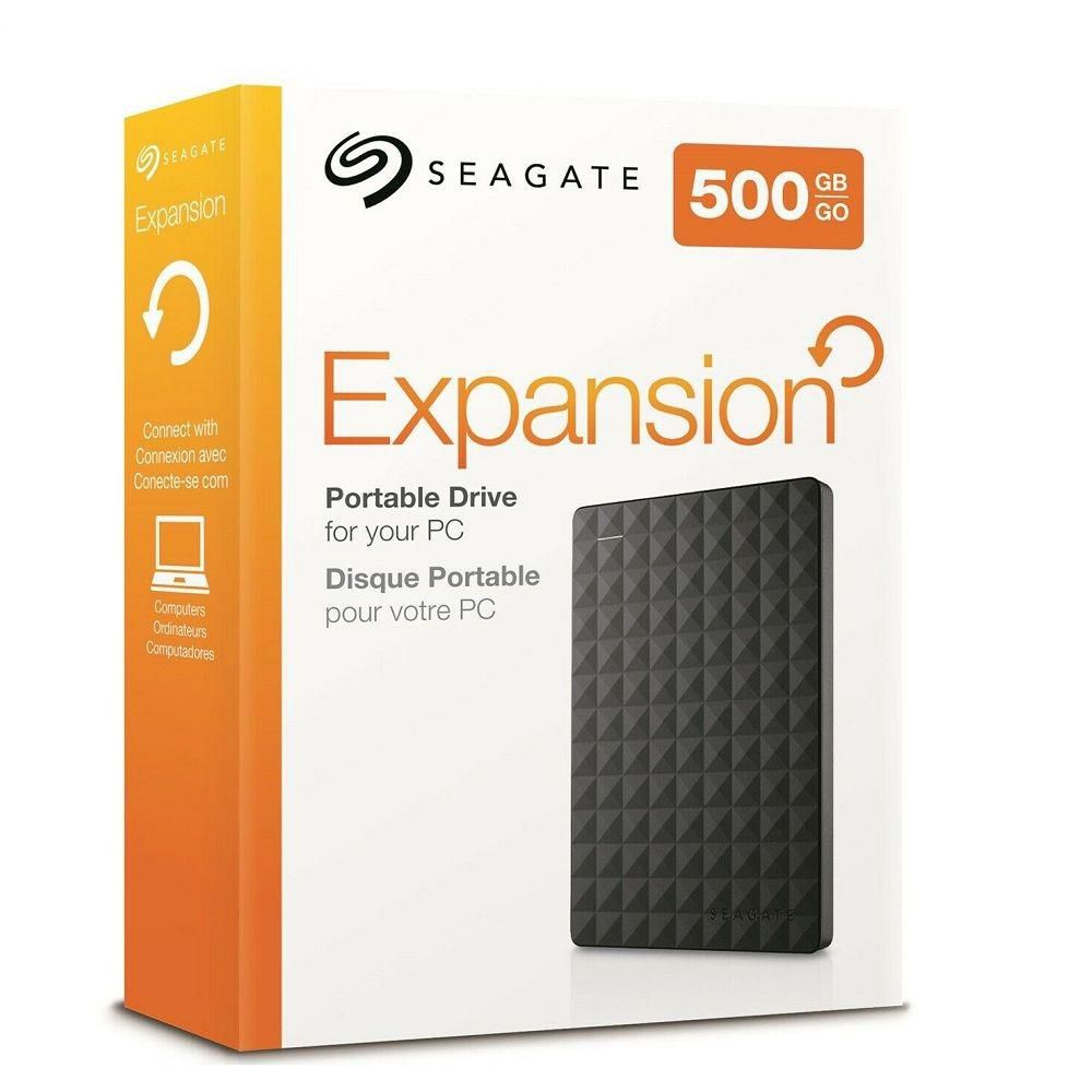 "HD Externo 500GB Seagate Expansion Slim - USB 3.0, 2.5"" -"