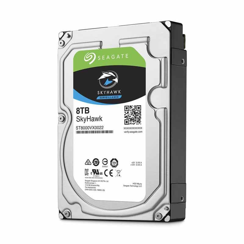 HD interno SEAGATE SKYHAWK SURVEILLANCE BARRACUDA, 8TB, SATA3 5900 RPM, 256MB, 3.5