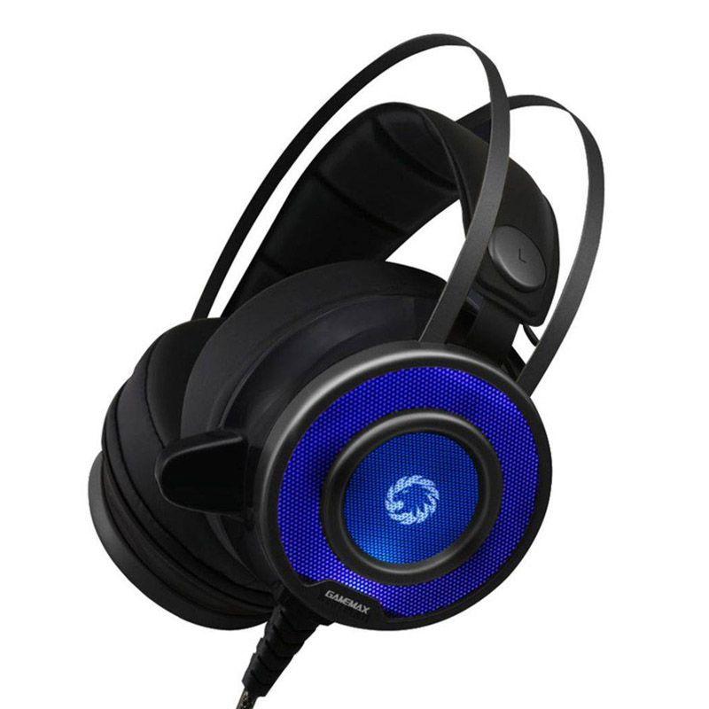 Headset GameMax Pro Gaming G200 - Preto com LED RGB
