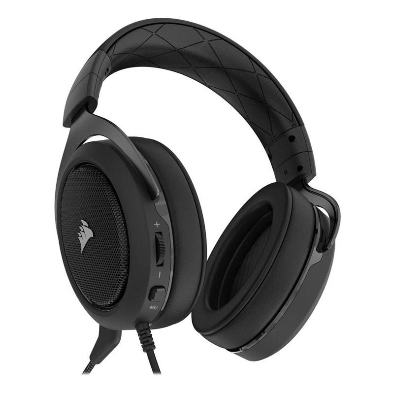 Headset Gamer Corsair HS50 Carbon - P2, Stereo 2.0 - Preto (seminovo)