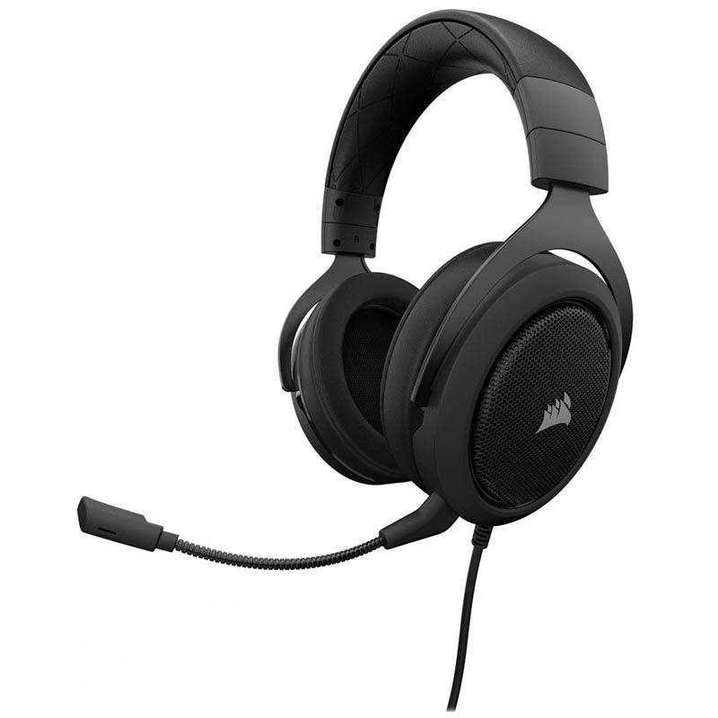 Headset Gamer Corsair HS50 Carbon - P2, Stereo 2.0 - Preto