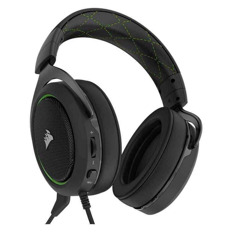 Headset Gamer Corsair HS50 - P2, Stereo 2.0 - Preto com Verde