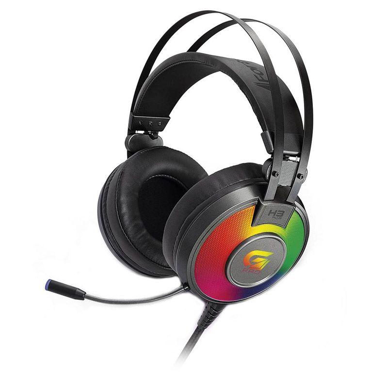 Headset Gamer Fortrek H3 Plus - 7.1, USB, RGB, G Pro - Cinza