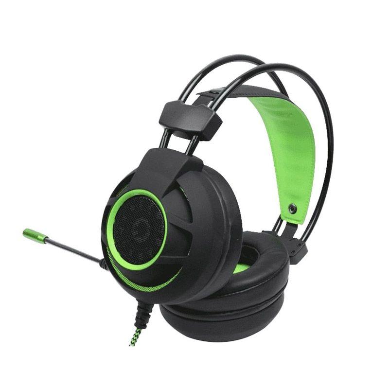Headset Gamer Gamemax HG9012 - 7.1 Surround, USB 2.0 - Preto com verde