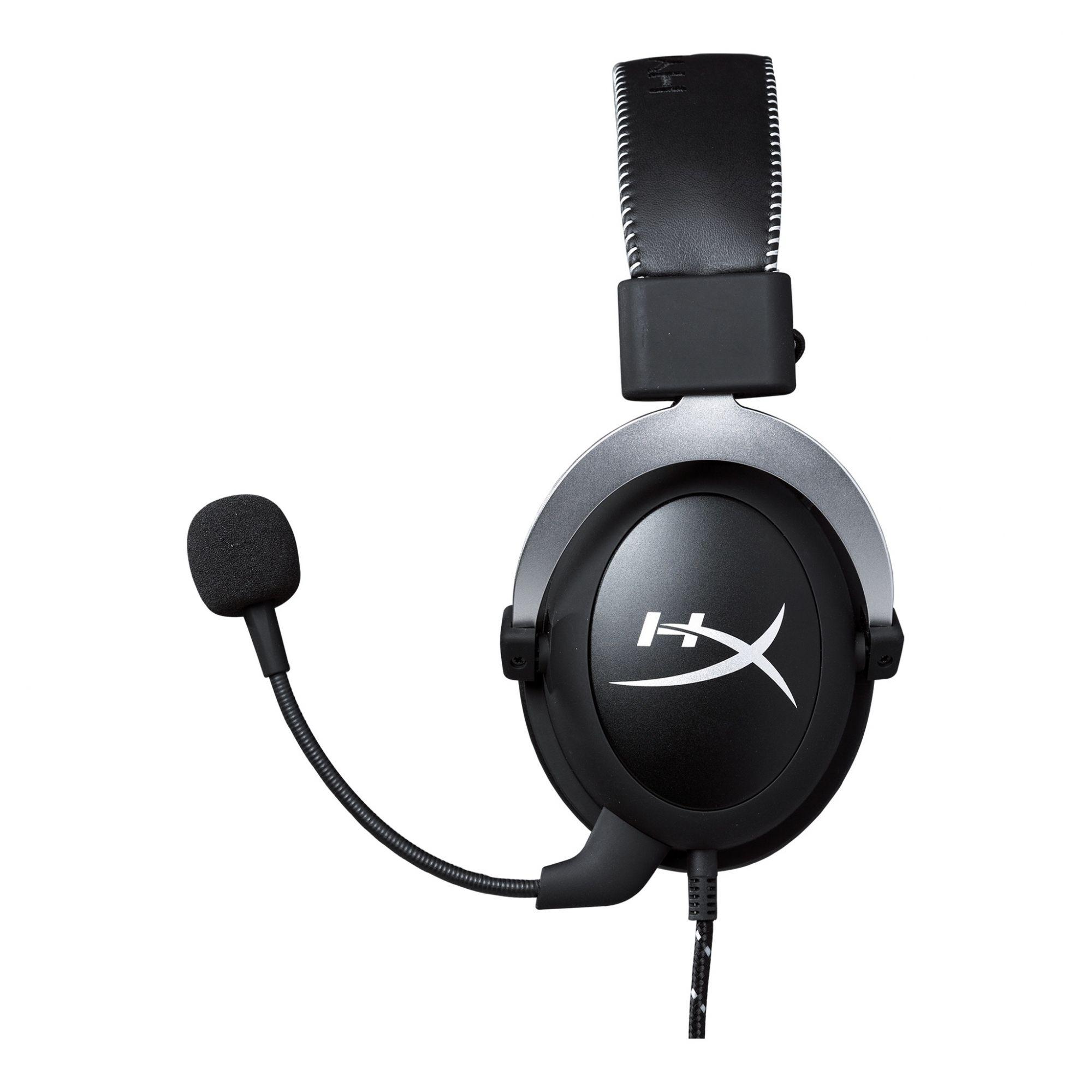 Headset Gamer Kingston HyperX Cloud - Som Surround 7.1 Virtual, Controle de áudio no cabo, Conchas auriculares intercambiáveis, Microfone com anulação de ruído destacável - HX-HSCL-SR - Preto/Cinza