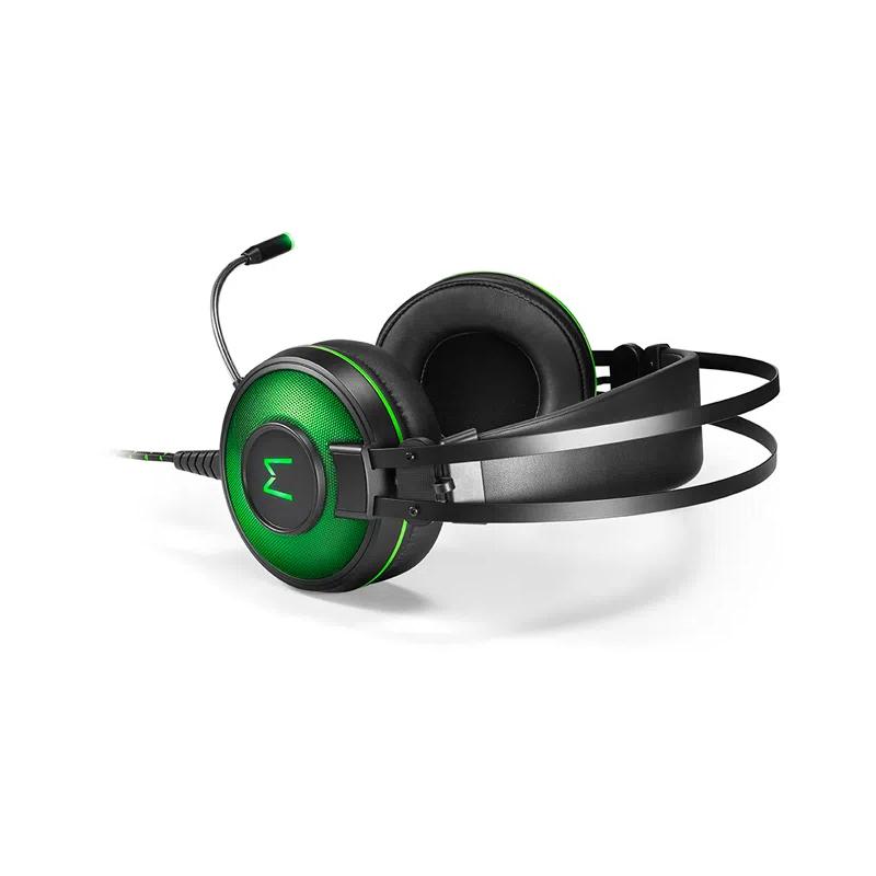 Headset Gamer Multilaser Warrior Raiko 7.1 PH259 - USB com Led Verde
