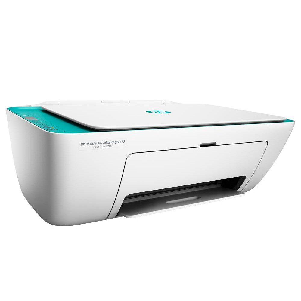 Impressora Multifuncional HP 2676 - Copiadora, Scanner, Wireless, Jato de Tinta, Bivolt, Colorida