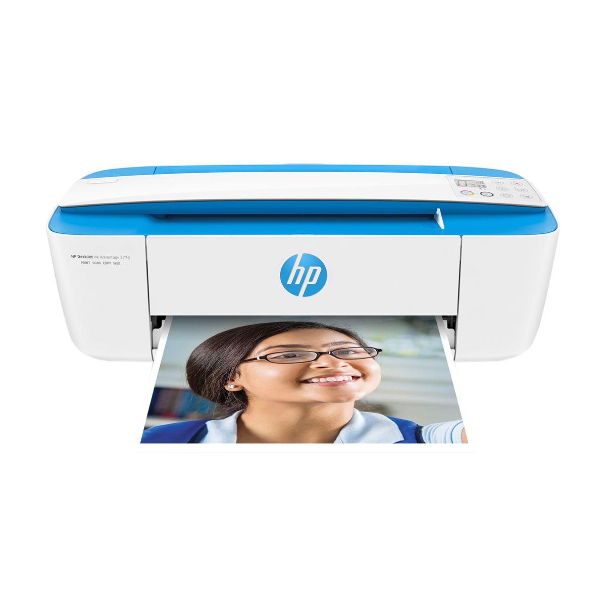 Impressora Multifuncional HP 3776/3775, Jato de Tinta, USB 2.0, Wifi, Copiadora, Scanner, Digitalizadora