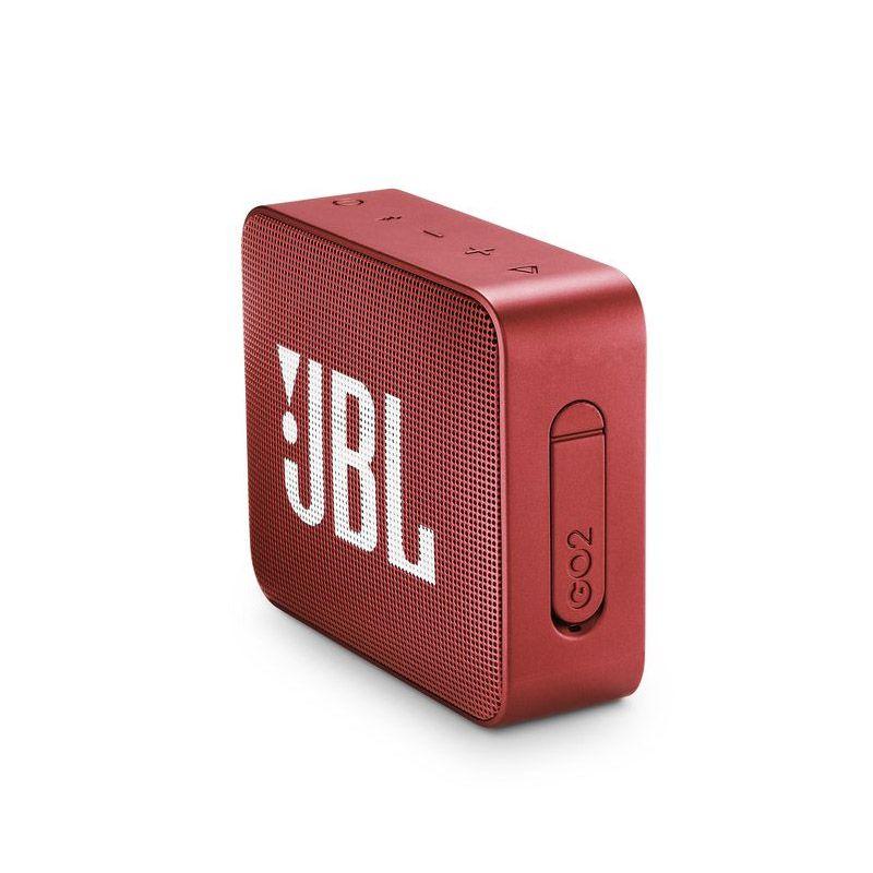 JBL GO 2 - Bluetooth, À prova d'água, Microfone embutido - Vermelho Go2