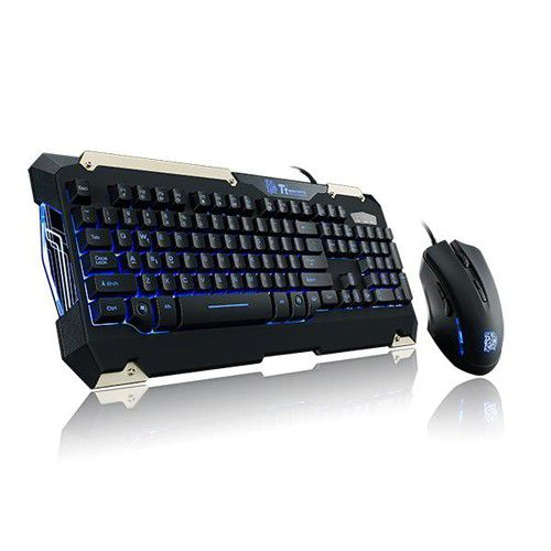 Kit Teclado e Mouse Thermaltake Sports Commander - TT esports, KB-CMC-PLBLPB-01- Azul