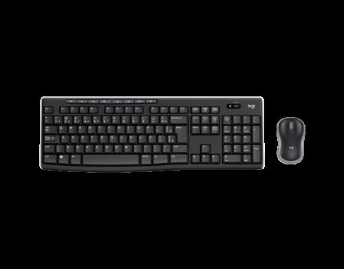 Kit Teclado + Mouse Logitech - Ajustável, Wireless, USB RC - MK270 Preto