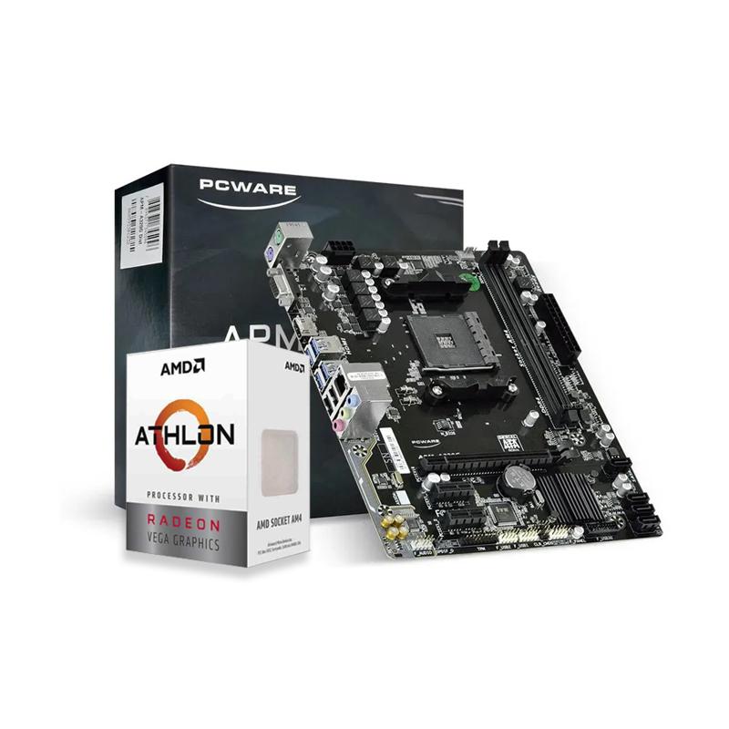 Kit Upgrade PC AMD ATHLON 3000G + Placa Mãe PCware A320G