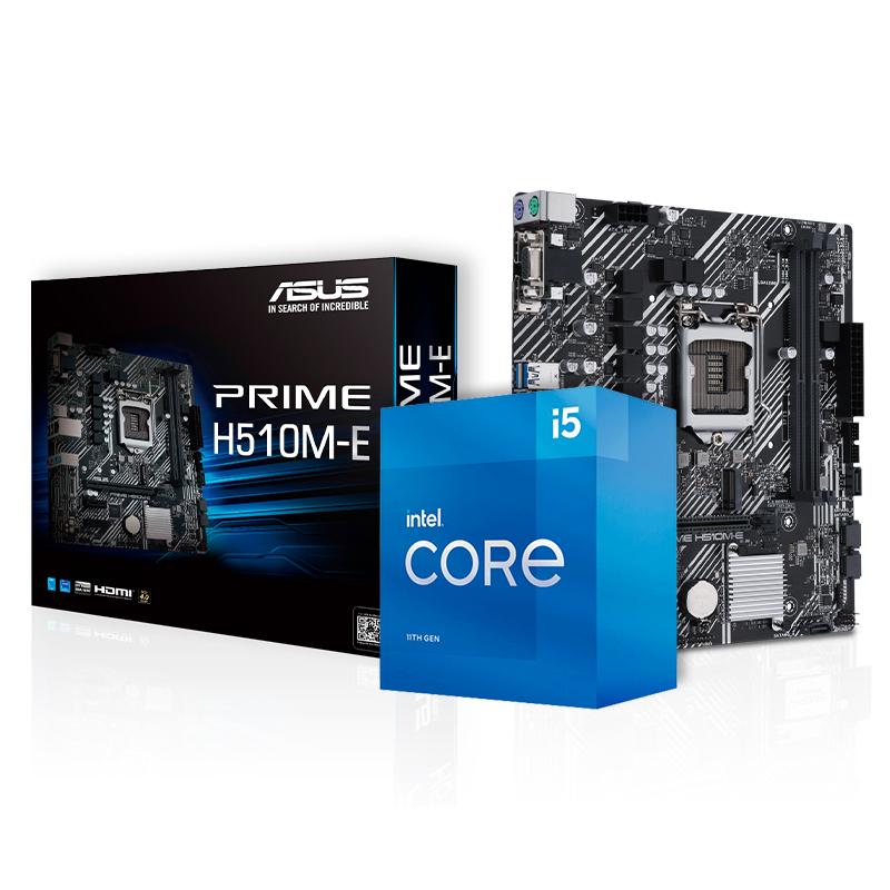 Kit Upgrade PC Intel Core i5-11400F 11ª Ger. + Placa Mãe Asus Prime H510M-E