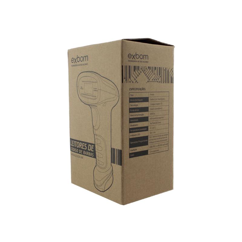Leitor de Codigo de Barras USB - LCB-160 EXBOM - Preto