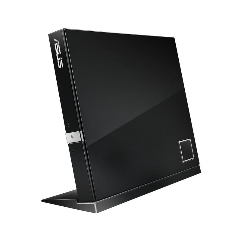 Gravador ASUS SLIM externo, Blu-ray / CD / DVD , USB, 3D, Full HD - Sbw-06d2x-U