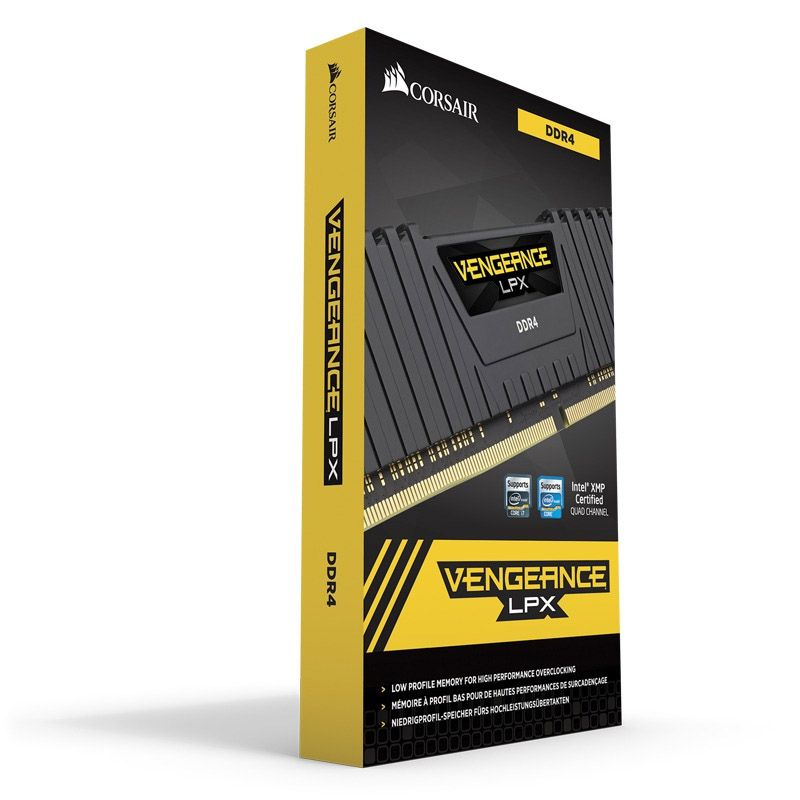 Memória Corsair Vengeance LPX - 16GB, 2400Mhz, DDR4 - Preta