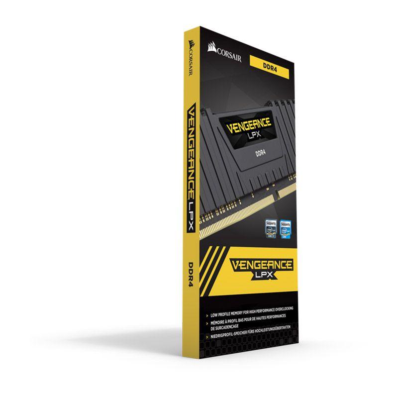 Memória Corsair Vengeance LPX  - 16GB, 3000MHz, DDR4 - Preto