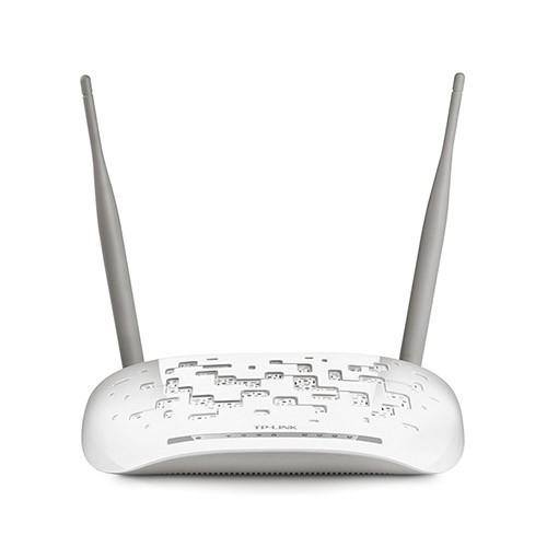 Modem + Roteador Wireless TP-Link TD-W8961ND + Modem ADSL2 - 300Mbps, 4 Portas Ethernet *
