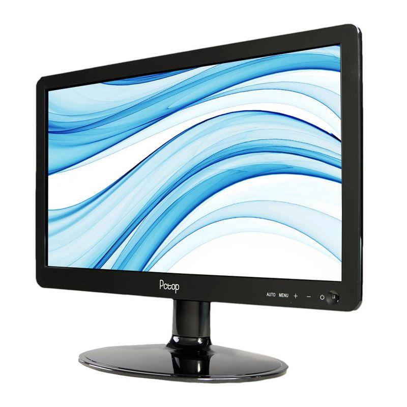 Monitor Pctop MLP156 - HDMI, VGA, LED, Furação Vesa - MLP156HDMI