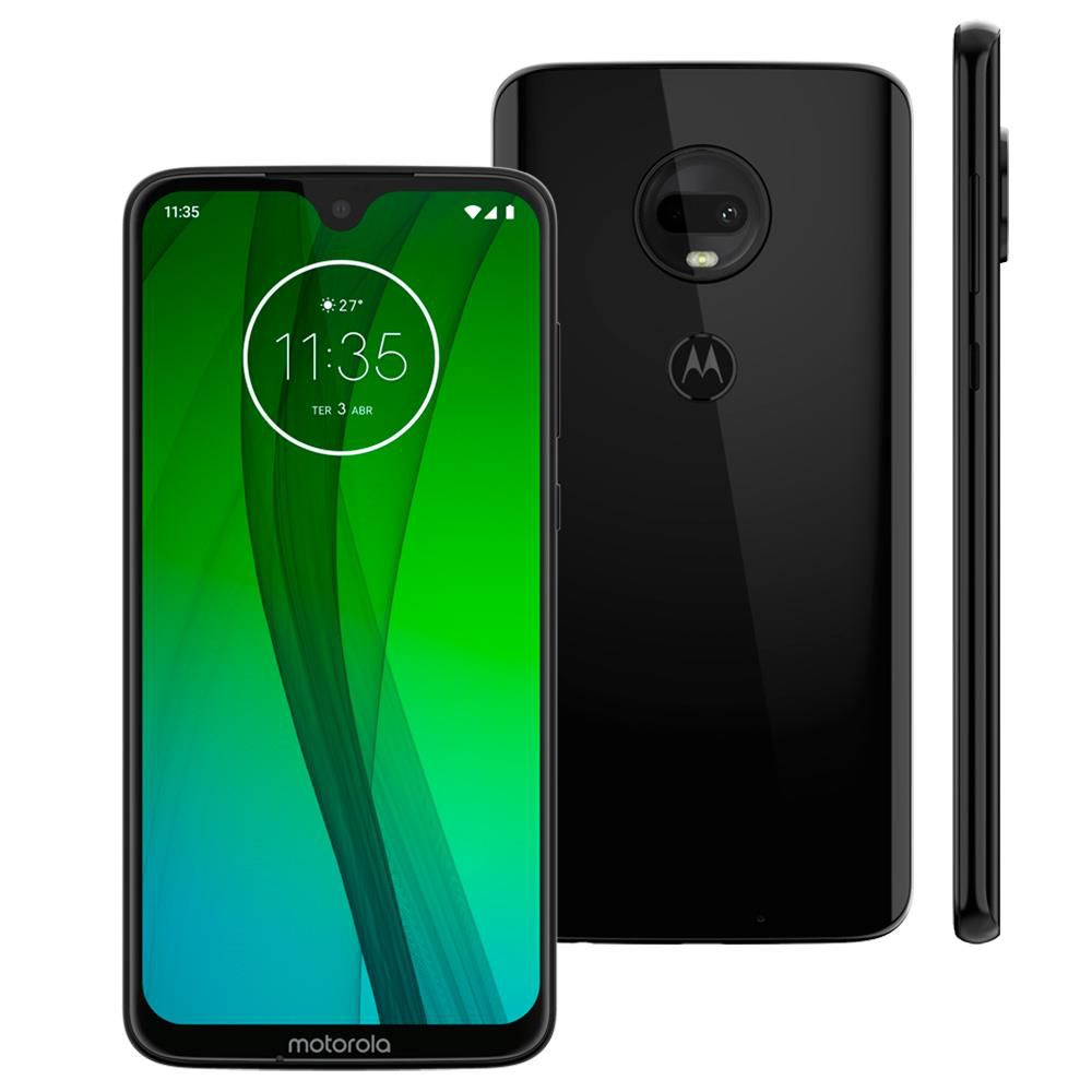 Motorola Moto G7 - 64GB, Tela Max Vision, TurboPower, Câmera traseira dupla - ONIX