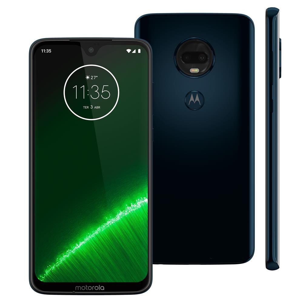 """Motorola Moto G7 Plus - 64GB, 4GB RAM, Tela de 6.24"""", Câmera Traseira Dupla - Índigo"""