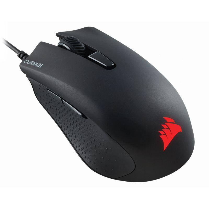 Mouse Gamer Corsair Harpoon RGB Pro - 12000DPI, 6 Botões, FPS/MOBA, USB - CH-9301111-NA