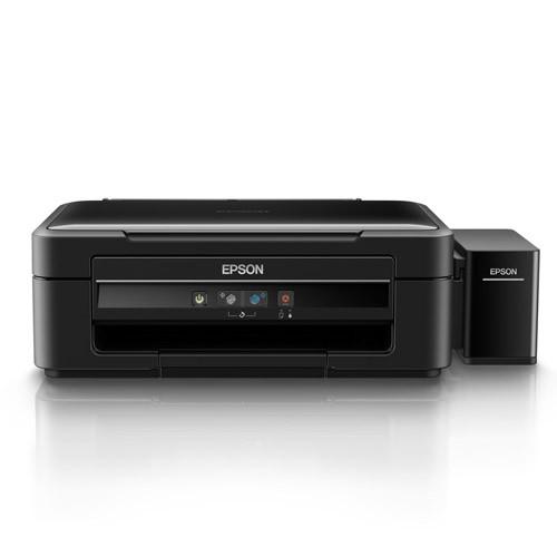 Multifuncional Epson EcoTank L380 - Impressora, Copiadora, Digitalizadora, tanques de tinta recarregáveis, USB - C11CF43302
