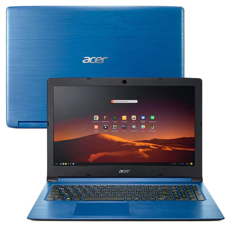 "Notebook Acer Aspire A315-53 Intel Core i5 8ªG, 8GB, SSD 512GB NVMe, Tela 15.6"", Azul"