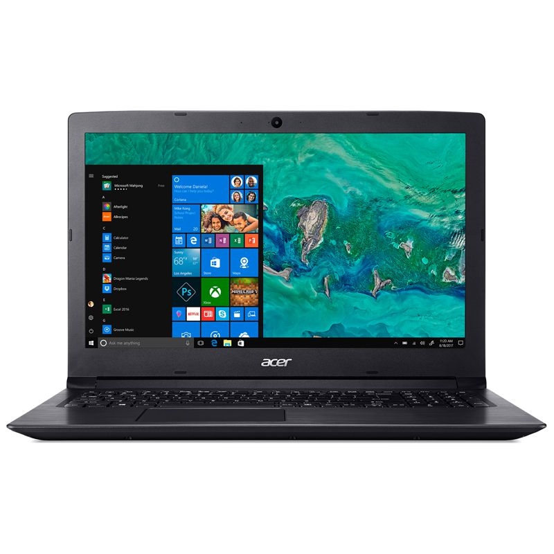 "Notebook Acer Aspire A315 - AMD Ryzen 3 2200U 2.50GHz, 4GB, HD 1TB, Tela 15,6"", Windows 10"