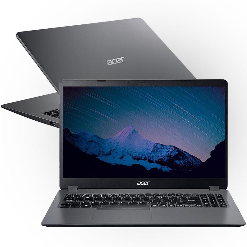 """Notebook Acer Aspire A315 Intel Core i3 10ª Geração, 4GB, SSD 128GB + HD 1TB, Tela 15.6"""", Windows 10"""