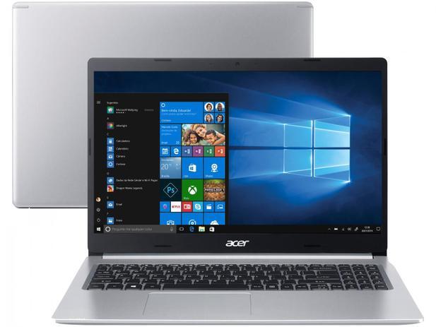 Notebook Acer Aspire A515 Intel Core i5 10ªG, 12GB, SSD 256GB, Placa de vídeo 2GB, Windows 10
