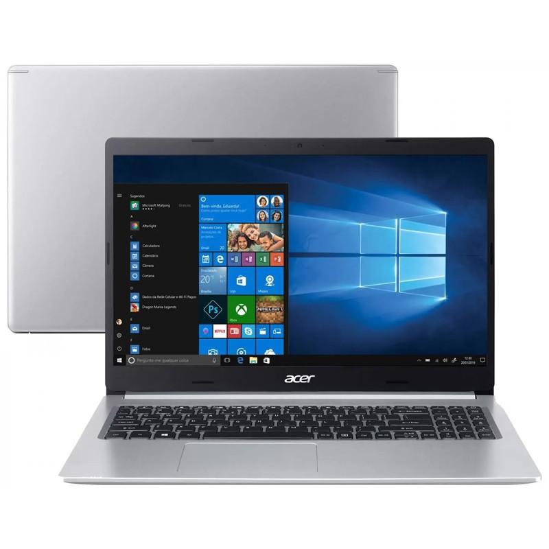 "Notebook Acer Aspire A515 Intel Core i5 10ªG, 8GB, SSD 128GB NVMe + HD 500GB, Tela 15.6"" Full HD"