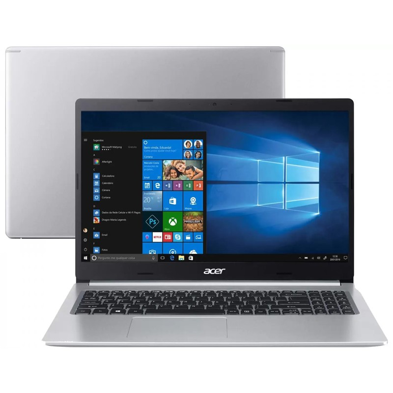 Notebook Acer Aspire A515 Intel Core i7 10ªG, 20GB, SSD 512GB, Placa de vídeo 2GB, Windows 10