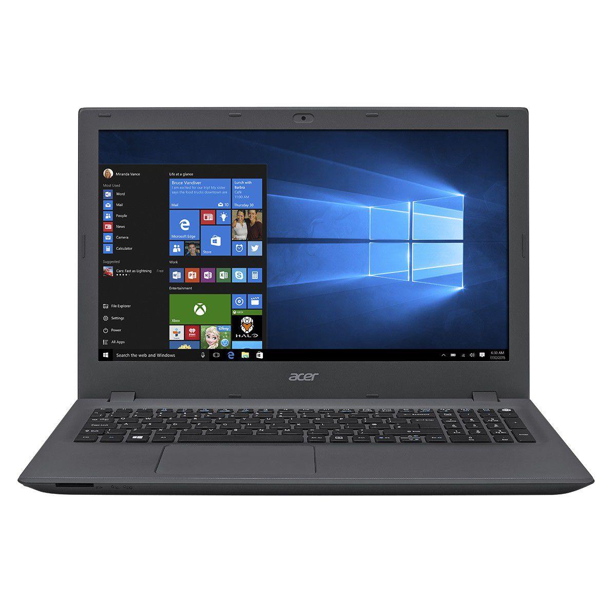"""Notebook Acer E5 - Intel Core i7 de 6ª geração, Memória de 16GB, HD de 2TB, NVIDIA GeForce 940M de 4 GB, Tela HD de 15.6"""", Windows 10 - E5-574G-73NZ"""