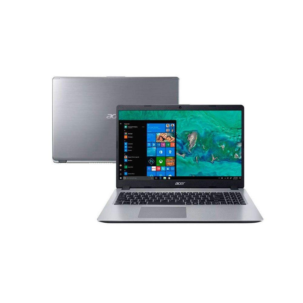 """Notebook Acer Ultrafino Aspire 5 - Intel Core i7 de 8ª geração, Memória 8GB, SSD 120GB + HD 1TB, GeForce MX130 de 2GB, Tela 15.6"""" HD - A515-52G"""
