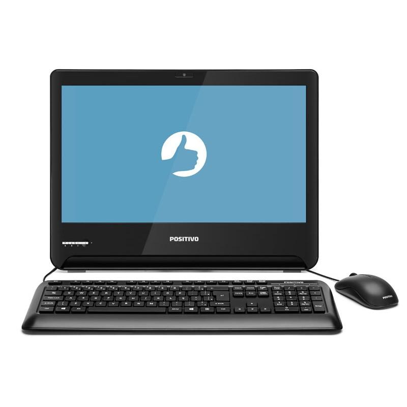 """Computador ALL IN ONE Positivo U1300, Dual Core N3060, 4GB de Memória, HD de 500Gb, HDMI 1.4, 5X USB 2.0, Tela LED HD de 18,5"""" - U1300"""